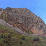 Col de Vars, Haute Ubaye 100x 150 cm acryl on canvas € 950
