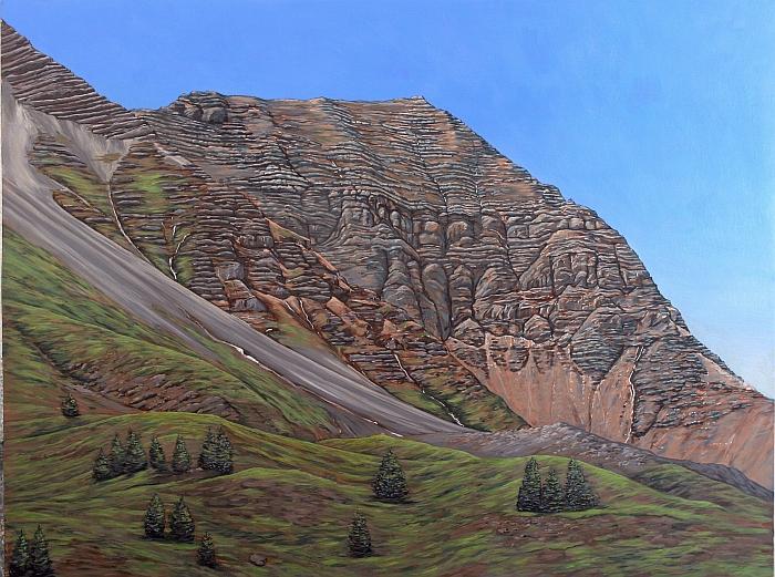 Col de Vars, Haute Ubaye 100x 150 cm acryl on canvas